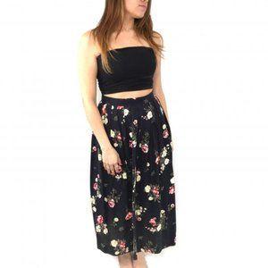 Vtg Chelsea Campbell Dark Blue High Waisted Skirt
